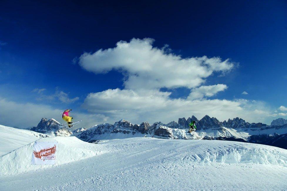 Ski area Brixen-Plose: ski fun on well prepared ski runs